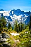 Traccia di escursione enorme del passaggio, Columbia Britannica, Canada Fotografie Stock Libere da Diritti