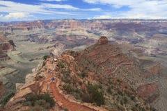 Traccia di escursione in grande canyon Immagine Stock