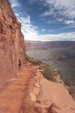 Traccia di escursione in grande canyon Fotografia Stock