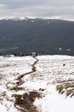 Traccia di escursione in montagna Fotografia Stock