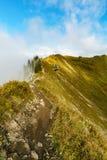 Traccia di escursione nel paesaggio della montagna delle alpi di Allgau Fotografia Stock
