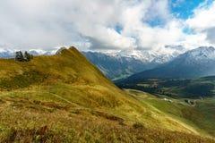 Traccia di escursione nel paesaggio della montagna delle alpi di Allgau sul Fellhorn Immagine Stock Libera da Diritti