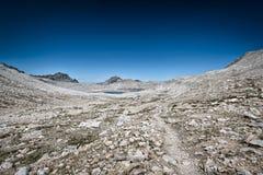 Traccia di escursione nella sierra Nevada Mountains Fotografia Stock Libera da Diritti