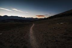Traccia di escursione nella sierra Nevada Mountains Fotografia Stock