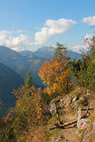 Traccia di escursione nelle alpi del karwendel Immagini Stock