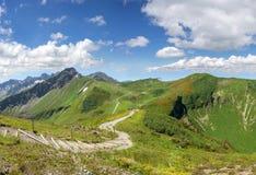 Traccia di escursione nelle alpi di Allgau Fotografia Stock Libera da Diritti