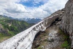 Traccia di escursione nelle alpi di Allgau Fotografia Stock
