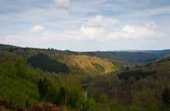 Traccia di escursione Panorama meraviglioso della montagna di estate Fotografie Stock