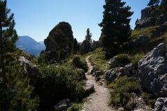 Traccia di escursione sull'alpe di Mastle nel Tirolo del sud Fotografie Stock Libere da Diritti