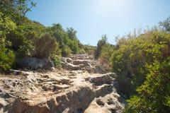 Traccia di escursione in Turchia fotografia stock libera da diritti