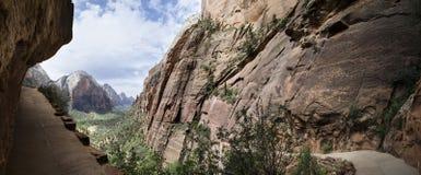 Traccia di escursione in Zion National Park Fotografia Stock