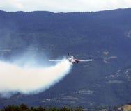 traccia di fumo da un aereo Fotografia Stock