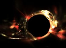 Traccia di fuoco su fondo nero Fotografia Stock Libera da Diritti