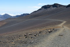 Traccia di Haleakala Fotografia Stock Libera da Diritti
