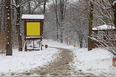 Traccia di inverno Immagine Stock Libera da Diritti