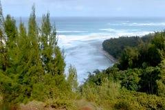 Traccia di Kalalau, Kauai Fotografia Stock