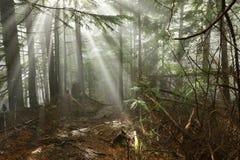 Traccia di Lynn Peak con il Sun Ray Fotografia Stock