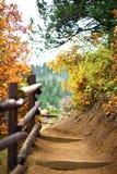Traccia di montagna fotografie stock