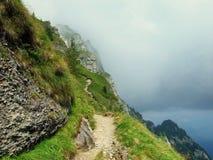 Traccia di montagna Fotografia Stock