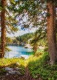 Una passeggiata al lago Fotografia Stock Libera da Diritti