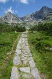 Traccia di montagne di Tatra in Polonia Immagine Stock Libera da Diritti