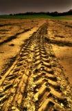 Traccia dorata Fotografia Stock Libera da Diritti