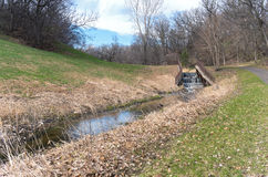 Traccia e diga di Battle Creek Fotografia Stock Libera da Diritti