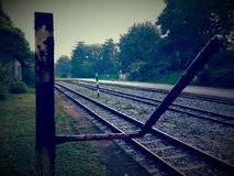 Traccia ferroviaria di Bukit Timah Fotografia Stock Libera da Diritti