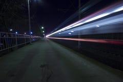 Traccia leggera di treno Immagine Stock