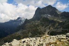 Traccia in montagne Immagini Stock