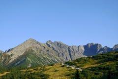 Traccia in montagne Fotografia Stock