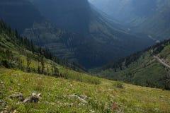 Traccia nazionale del parco-Highline del MT-ghiacciaio Immagini Stock