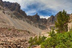 Traccia nazionale del pino del parco-Bristlecone del bacino di NV-grande Fotografia Stock