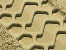 Traccia nella sabbia Fotografia Stock