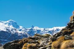 Traccia nelle alte alpi Immagini Stock Libere da Diritti