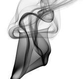 Traccia nera del fumo Fotografia Stock