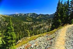 Traccia pacifica della cresta, alpi della trinità Fotografia Stock