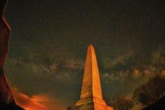 Traccia Panaroma della stella di notte nel martirio di Kars Sarıkamış fotografia stock