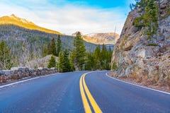 Traccia Ridge Road, Rocky Mountain National Park Immagine Stock Libera da Diritti