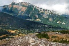 Traccia rocciosa alta nelle montagne Kasprowy Wierch, montagne di Tatra, Polonia Fotografia Stock Libera da Diritti