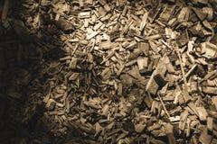 traccia turistica coperta di legno asciutto scheggiato - retro sguardo dell'annata fotografia stock libera da diritti