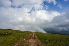 Traccia turistica dell'alta montagna Fotografia Stock Libera da Diritti