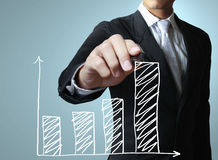 tracciare un grafico illustrazione di stock