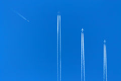 Trace of the aircraft Royalty Free Stock Image
