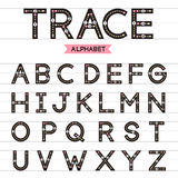Trace alphabet uppercase letters. Royalty Free Stock Photo