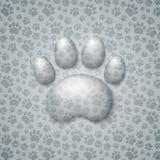 Trace Cat bajo la forma de agua de las gotitas ilustración del vector
