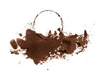 Trace of coffee on paper royalty free stock images