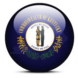 Trace con Dot Pattern en el botón de la bandera del estado de los E.E.U.U. Kentucky Imagen de archivo libre de regalías