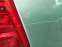 Trace of crash car Royalty Free Stock Image