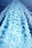 Trace de bateau Photos stock